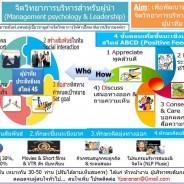 จิตวิทยาการบริหารสำหรับผู้นำ (Management psychology & Leadership)
